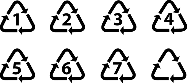 universal recycling sign symbols vectors