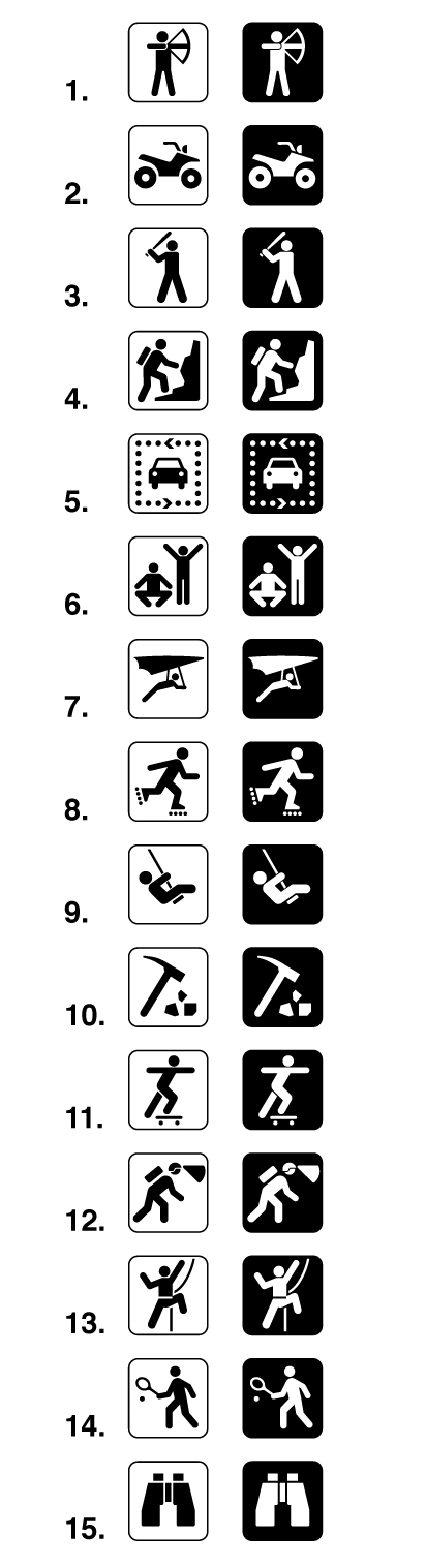 Land Recreation Sign Symbols Map Symbols